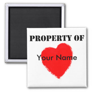 Valentine Property Of 2 Inch Square Magnet
