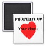 Valentine Property Of Fridge Magnets