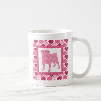 Valentine Pug - Silhouette (8).jpg Coffee Mug
