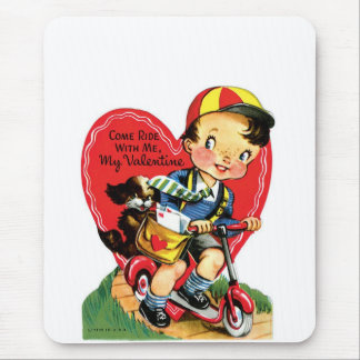 Valentine puppy mouse pad