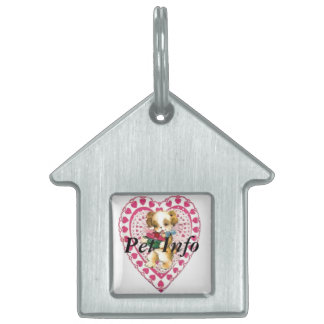 Valentine Puppy Pet Tag