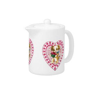 Valentine Puppy Teapot