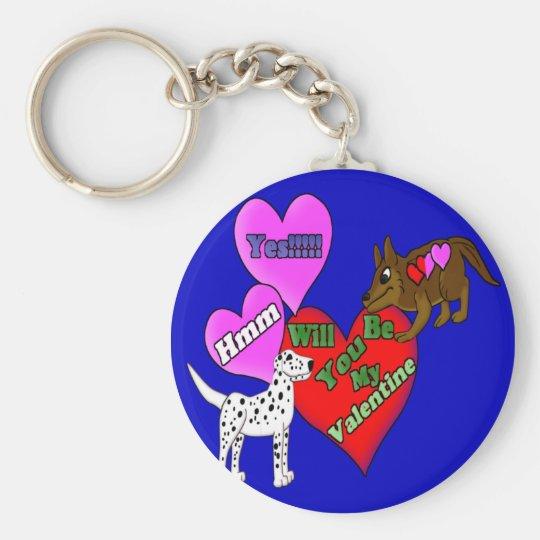 Valentine Pups Keychain