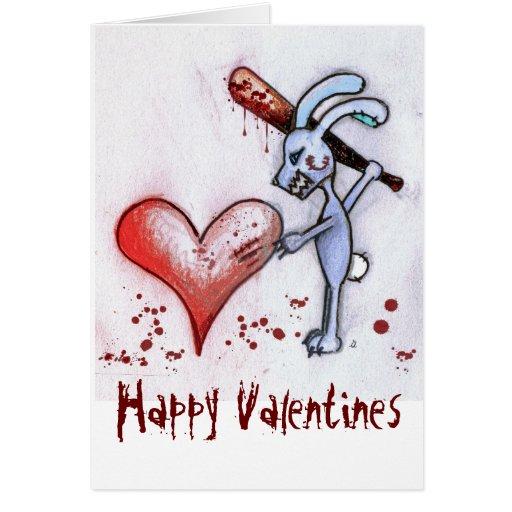 Valentine Rabbit Card (White)