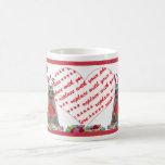 "Valentine  Raccoon ""Bandit"" Photo Frame Classic White Coffee Mug"