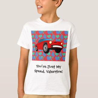 Valentine Race Car T-Shirt