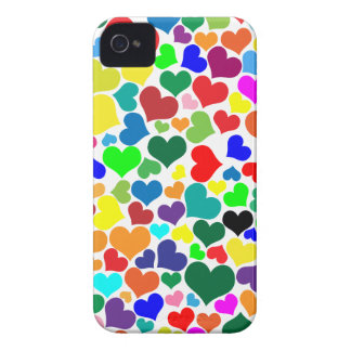 valentine rainbow hearts Case-Mate iPhone 4 case