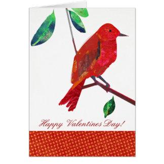 Valentine Red Bird Card