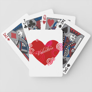 Valentine Red Heart Bicycle Playing Cards