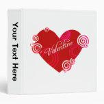 Valentine Red Heart Binder