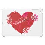 Valentine Red Heart iPad Mini Cover