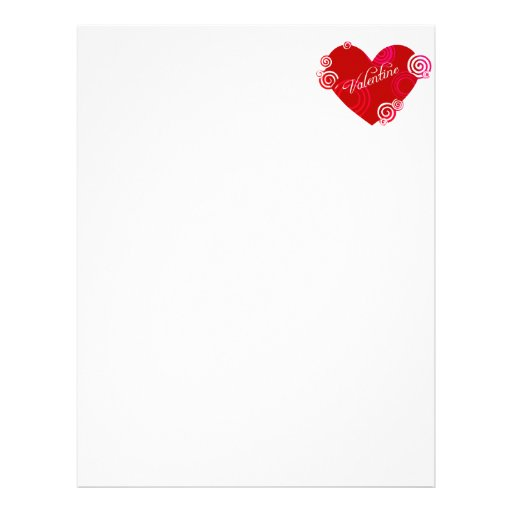 Valentine Red Heart Letterhead Template