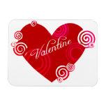 Valentine Red Heart Magnet