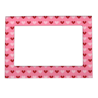 Valentine Red Heart Pattern Picture Frame Magnets