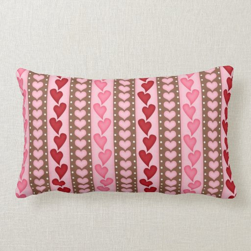 Red Heart Decorative Pillow : Valentine Red Heart Pattern Pillow Zazzle