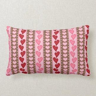Valentine Red Heart Pattern Throw Pillow