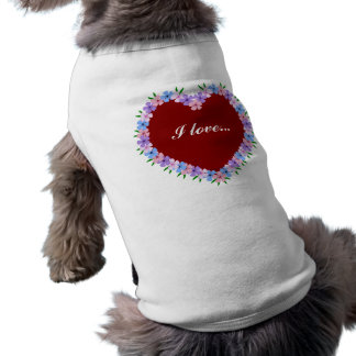 Valentine Red Heart Pet Tee