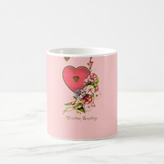 Valentine Red Heart Sentiments Mug