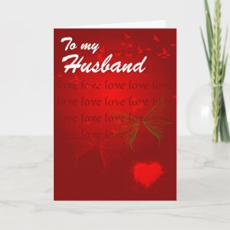 Valentine Red Hearts for Husband card