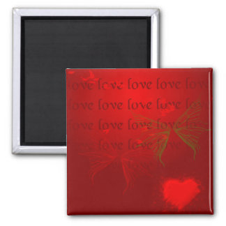 Valentine Red Hearts Magnet