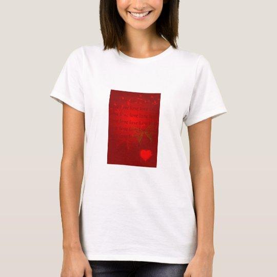 Valentine Red Hearts T-Shirt