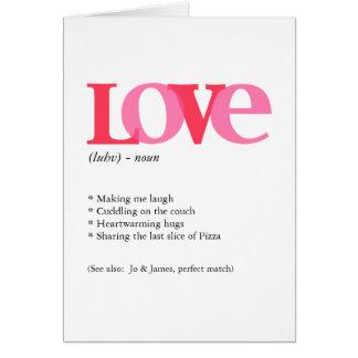 Valentine Red & Pink Love Typography Card