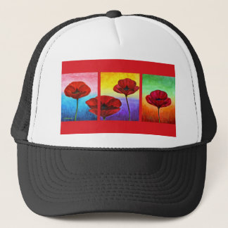 Valentine Red Poppies Painting - Multi Trucker Hat