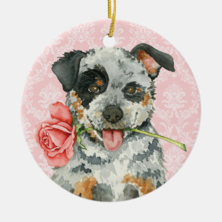 Valentine Rose ACD Ceramic Ornament