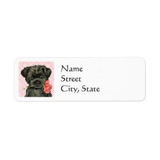 Valentine Rose Affenpinscher Label