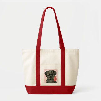 Valentine Rose Affenpinscher Tote Bag