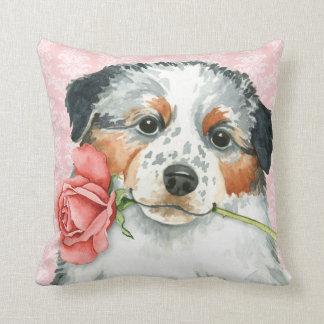 Valentine Rose Aussie Throw Pillow