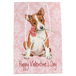 Valentine Rose Basenji Medium Gift Bag