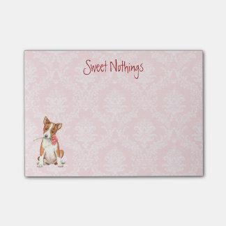 Valentine Rose Basenji Post-it® Notes