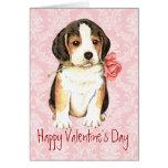 Valentine Rose Beagle Card