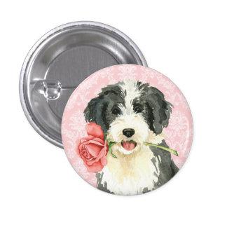 Valentine Rose Beardie Pinback Button