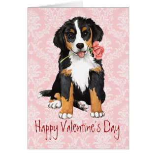 Valentine Rose Berner Card at Zazzle