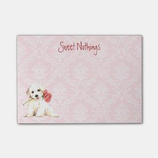 Valentine Rose Bichon Post-it Notes