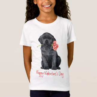 Valentine Rose Black Lab T-Shirt