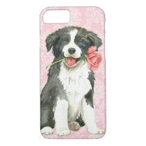 Valentine Rose Border Collie iPhone 8/7 Case