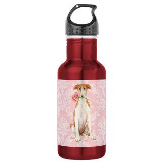 Valentine Rose Borzoi Water Bottle