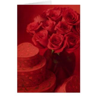 Valentine rose bouquet card