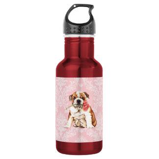 Valentine Rose Bulldog Stainless Steel Water Bottle