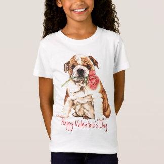 Valentine Rose Bulldog T-Shirt