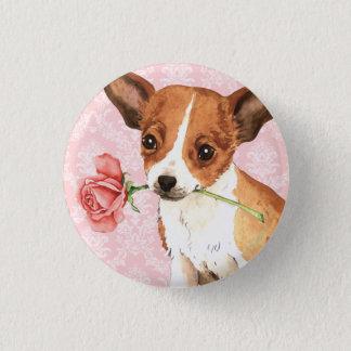 Valentine Rose Chihuahua Button