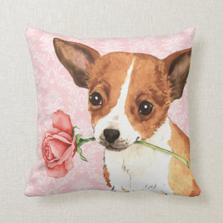 Valentine Rose Chihuahua Throw Pillow