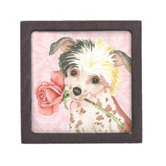 Valentine Rose Chinese Crested Gift Box