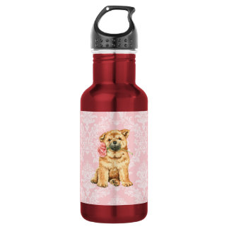 Valentine Rose Chow Water Bottle