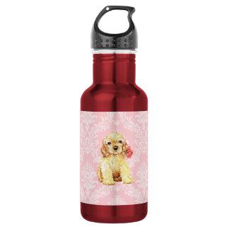 Valentine Rose Cocker Stainless Steel Water Bottle