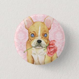 Valentine Rose Frenchie Button