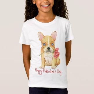 Valentine Rose Frenchie T-Shirt